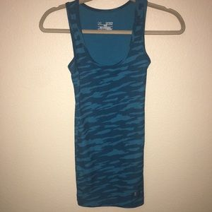 Under Armour XS Blue Heat Gear Fitted Tank Top